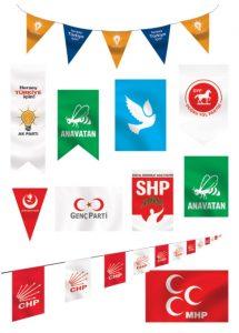 siyasi parti posterleri ak parti iyi parti mhp chp bayrakları 215x300 - Posterler
